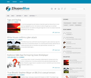 Zikazev Blue Responsive Blogger Template - wahyu only