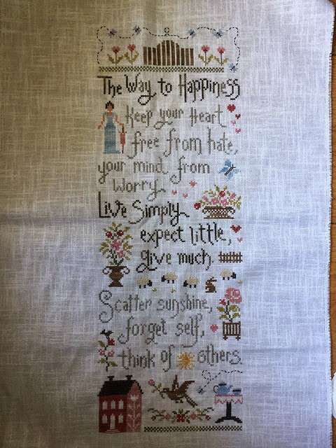 Stitchwitchhazel 39 s stitching musings d e s i g n may for Jardin prive