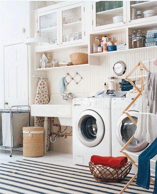 Ubicar la lavadora en el baño