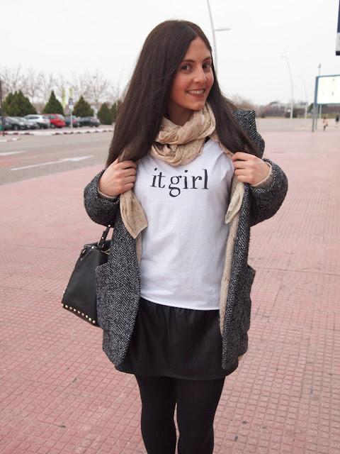 camiseta it girl de Mango