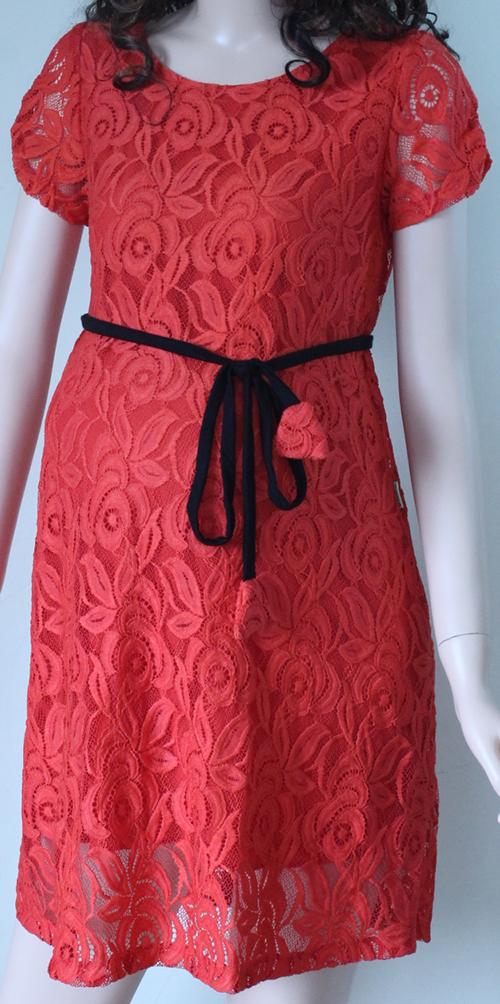 Váy bầu đỏ V-02