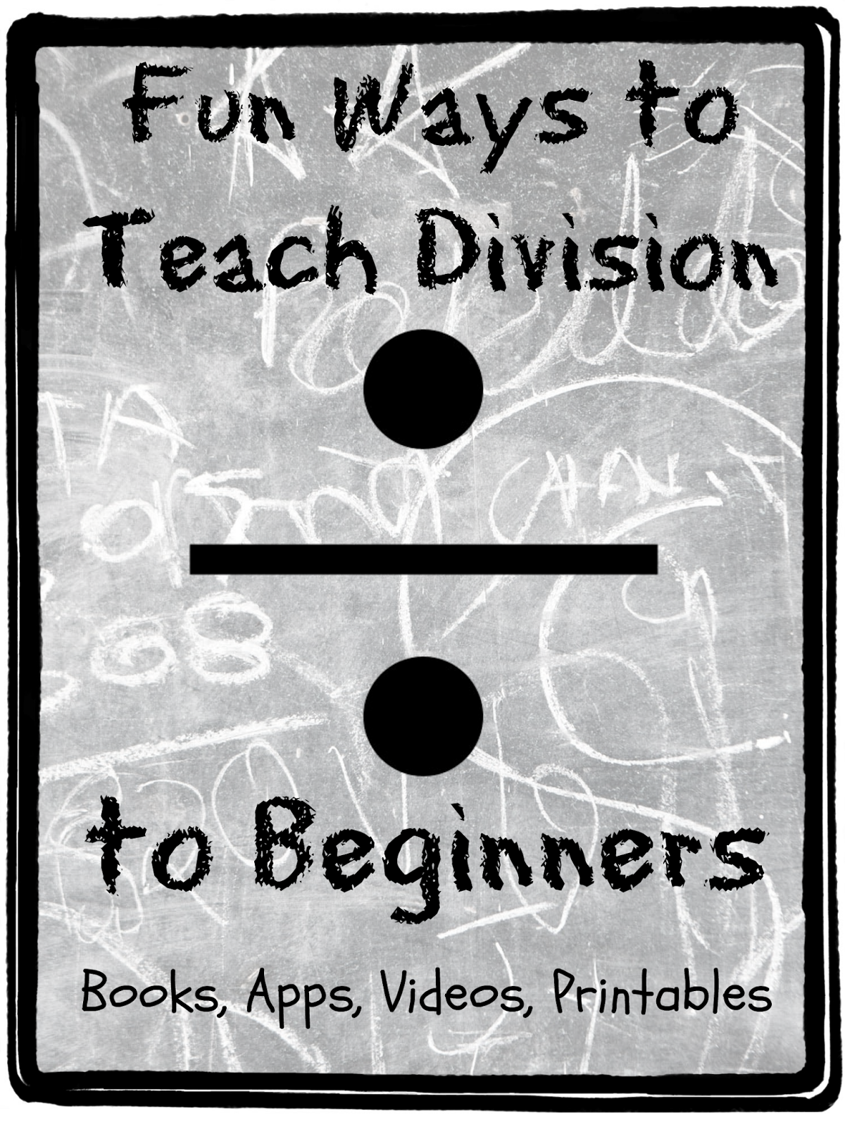 Fun Ways to Teach Division to Kids Teach Beside Me – Teaching Division Worksheets