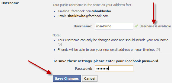 Facebook-Username-Change