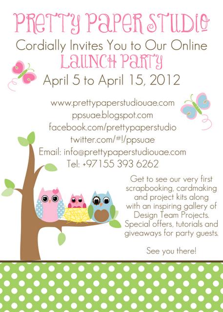 pretty paper studio online launch party invitation - Launch Party Invitation
