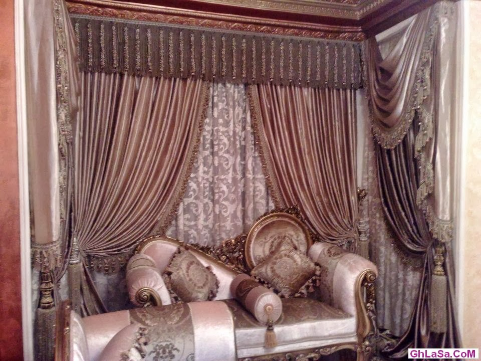 living room design with indian drapes curtain design 2014