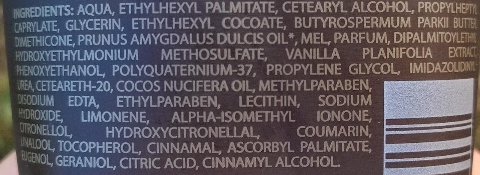 ingredientes crema vainilla negra Bottega Verde