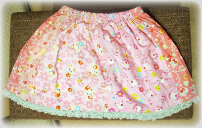 image girl's skirt pink kawaii blue lace