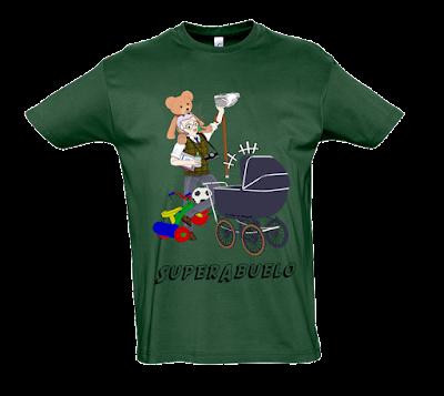 "Camiseta manga corta para hombre ""SuperAbuelo"" color verde"