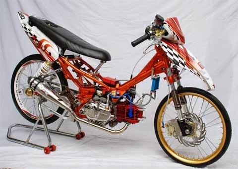 Modifikasi Honda Beat Ceper Drag Style