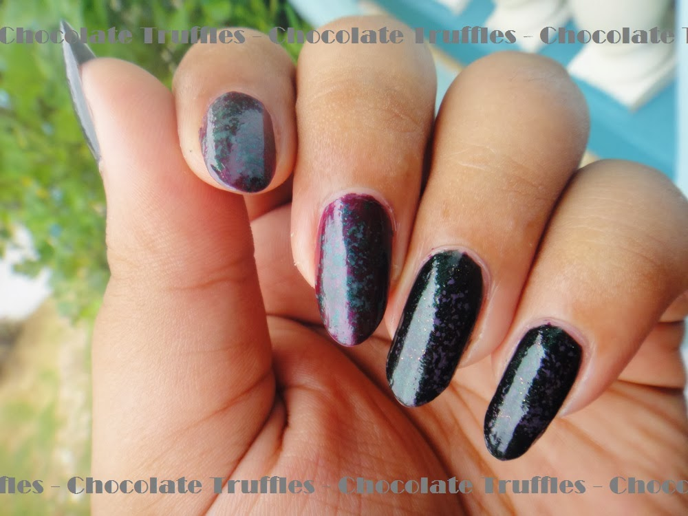 Real chocolate tr zombie goo and vampire blood nails nail polish review swatches nail art tutorial prinsesfo Image collections