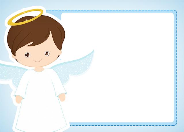 Cute Angel Boy Free Printable Invitations Oh My Baby