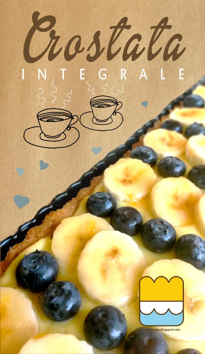 crostata integrale, profumata al lime e frutta, per un pomeriggio con le amiche