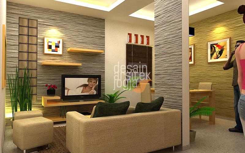 Desain Ruang Keluarga Rumah Mungil