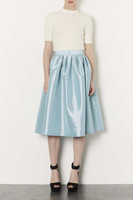 pale blue skirt