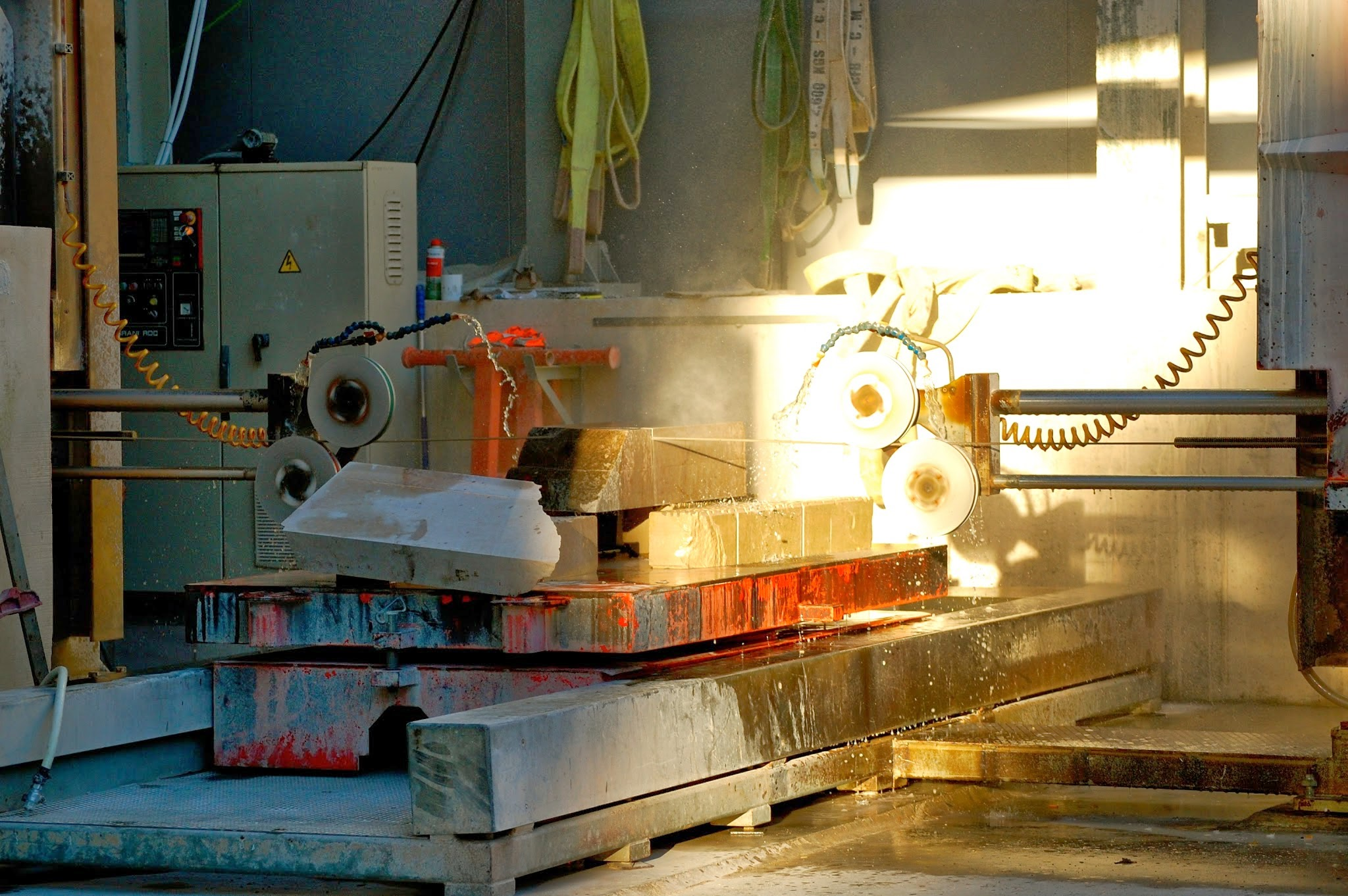 Stone cutting machine at the Sagrada Familia