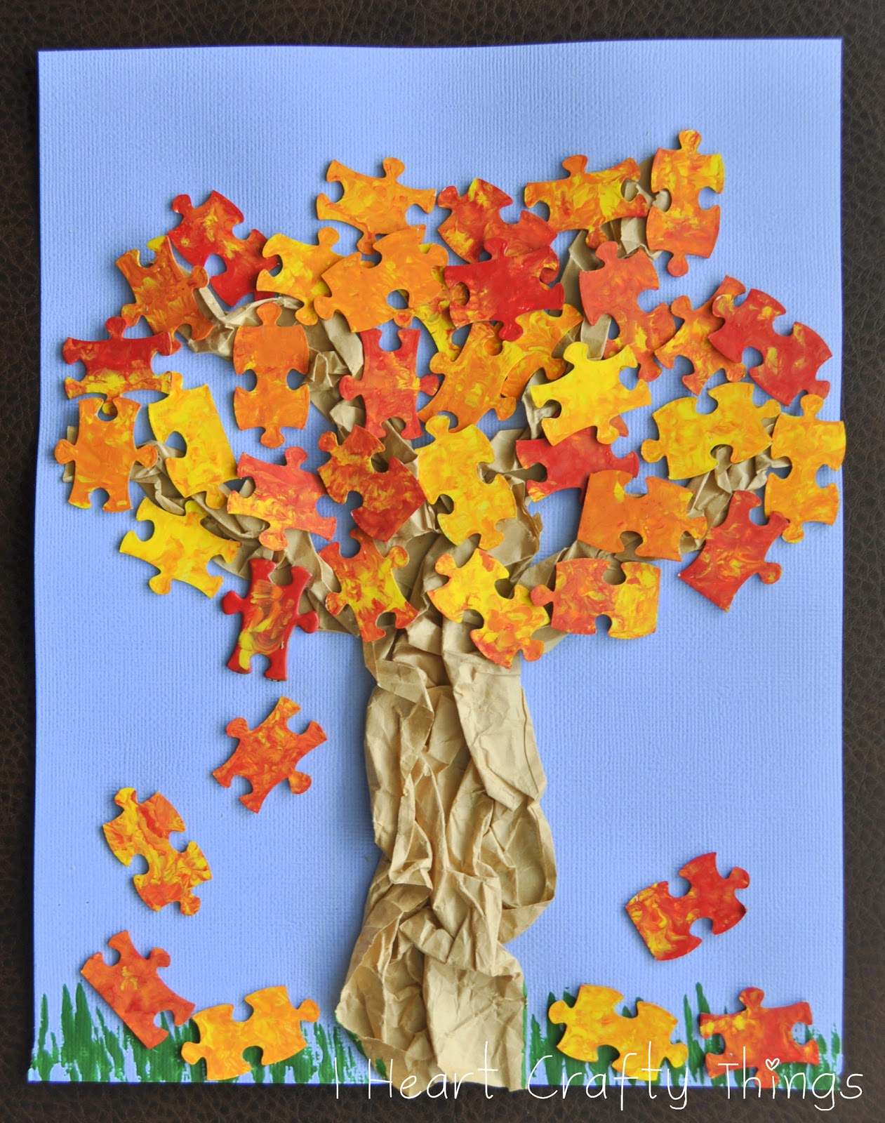 fall tree craft i heart crafty things