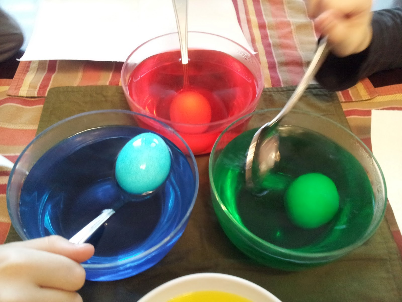 Colouring Easter Eggs