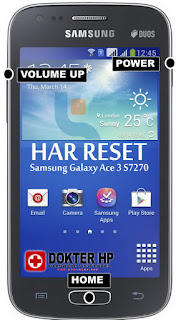 Hard Reset Samsung Galaxy Ace 3 S7270