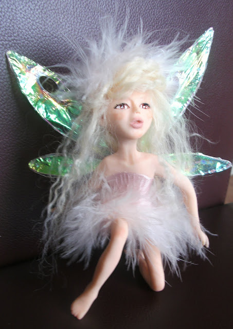 OOAK Fairy sculpted polymer clay Art Doll