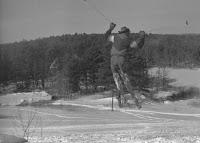 old school skiier