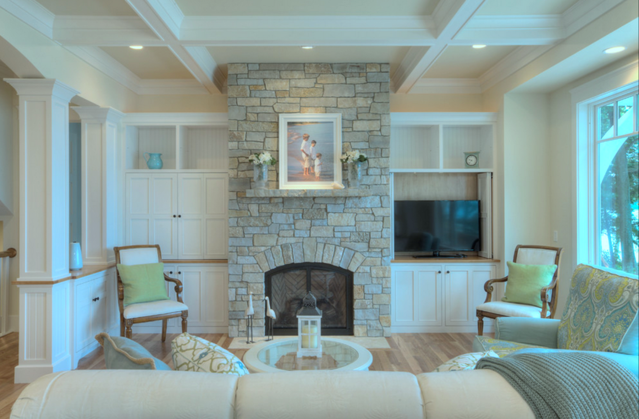 I Found Several Photos On Houzz Showing TVu0027s Beside The Mantle Instead Of  Above It (one Example On Right)   This Helped The Client Visualize Options.