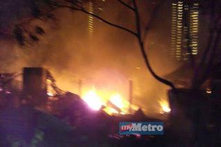 Kilang Bihun Cap Masjid Terbakar