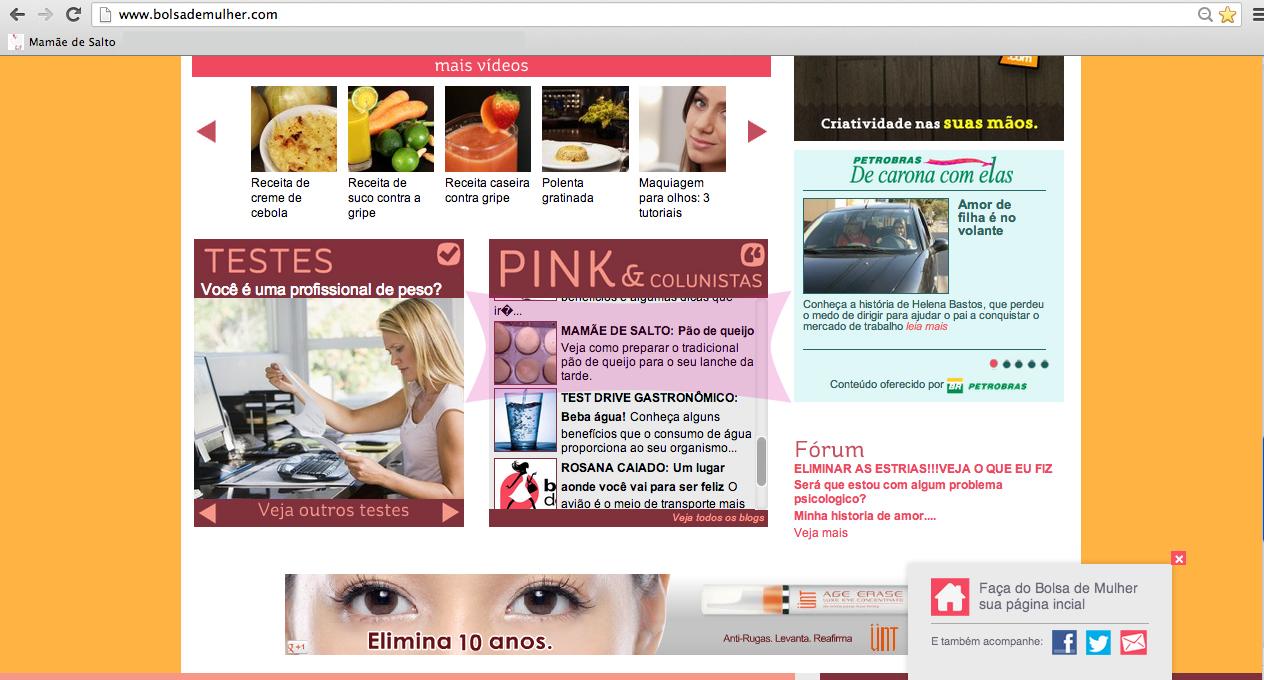 site Bolsa de Mulher blog Mamãe de Salto