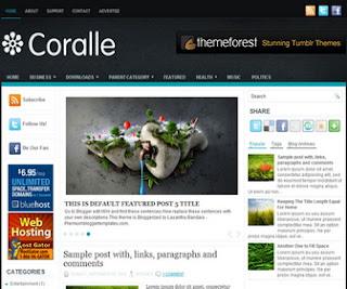 Coralle Blogger Template