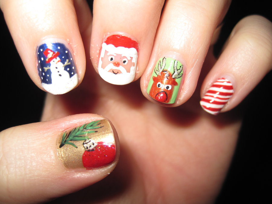 can choose the perfect shade of nail design for Christmas occasion