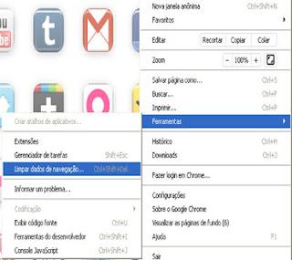 como limpar dados de navegação do google chrome