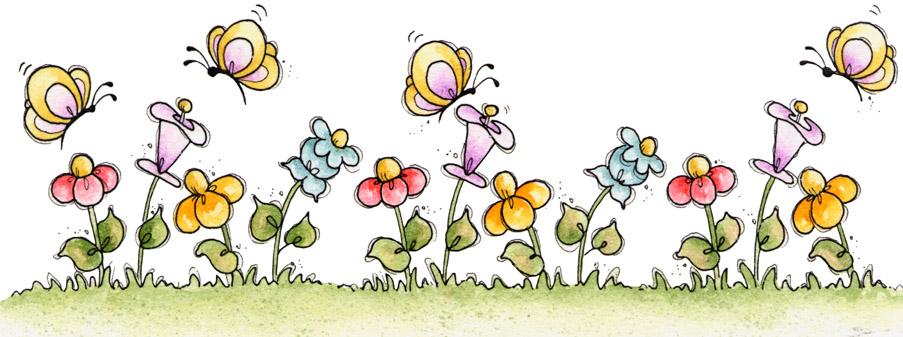 flores y mariposas bordes de flores para imprimir tulipanes de