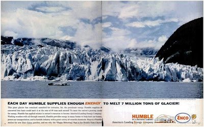 Exxon advertisement melting Glacier global warming