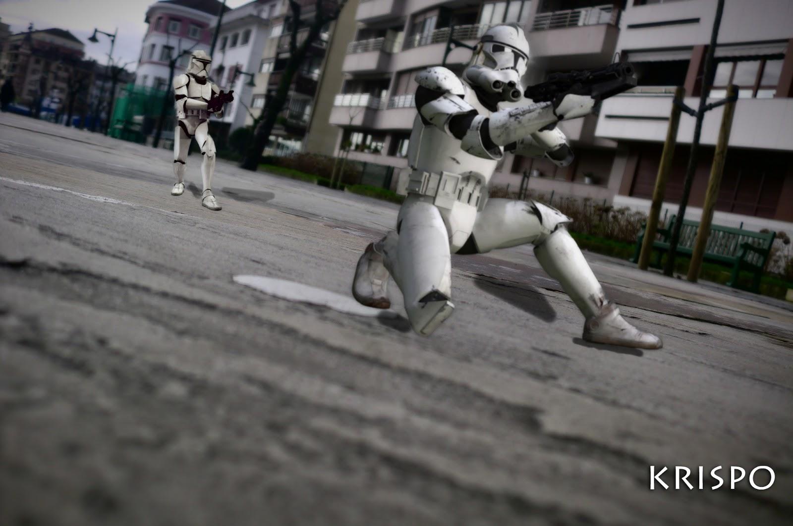 fotomontaje de Star Wars en Hondarribia con clones