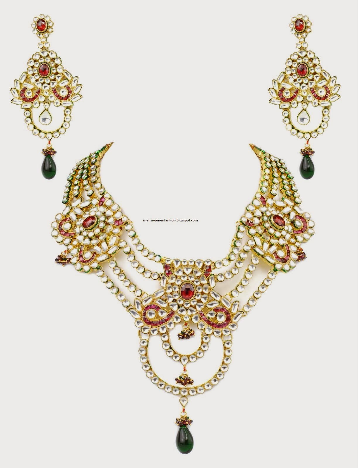 plated indian jewelry gold set bollywood ethnic kundan pin fashion cz necklace jewellery