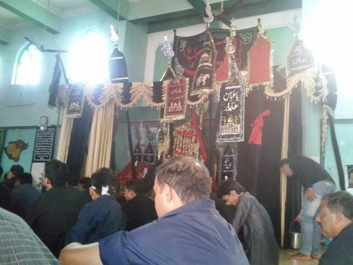 Day of Mourning - Ashura/Muharram. Devotees at the Majlis.
