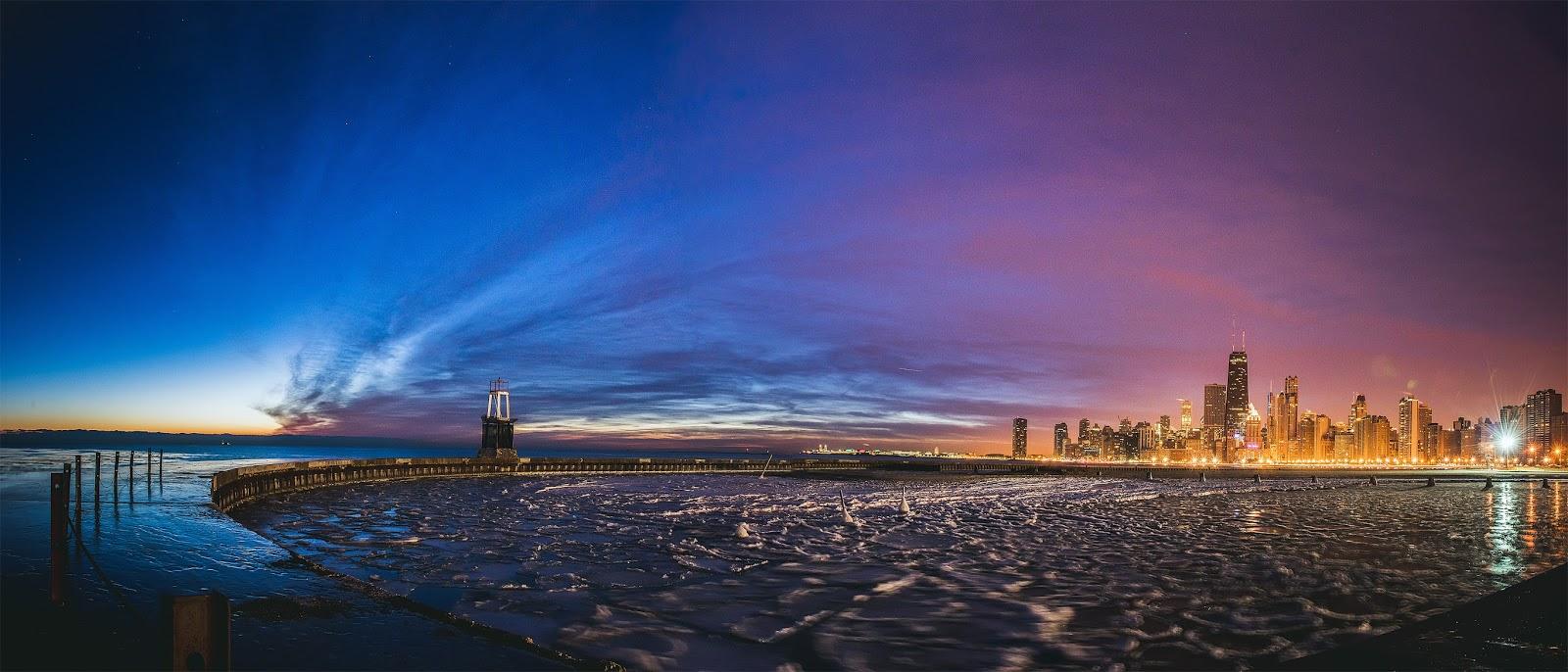 Chicago skyline Sunrise Photo
