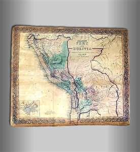 Mapa antiguo de Bolivia 1859