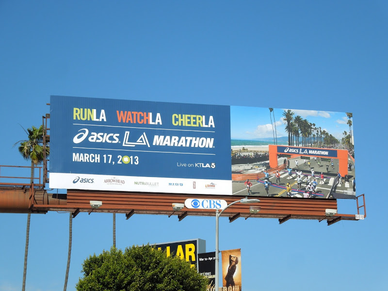 Asics LA Marathon 2013 billboard