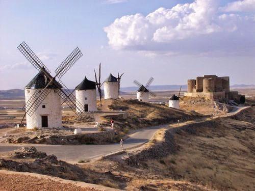 Los molinos de viento en Castilla La Mancha