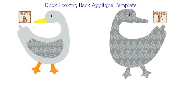 http://shopprojectsbyjane.blogspot.sg/2016/01/duck-looking-back-applique-template.html