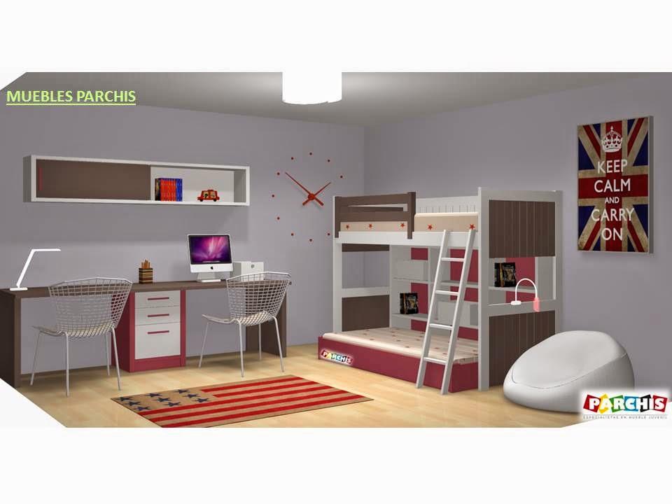 Muebles juveniles dormitorios infantiles y habitaciones for Programa para amueblar habitaciones