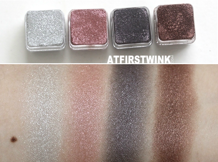 the Bodyshop Shimmer Cubes palette 07 swatches