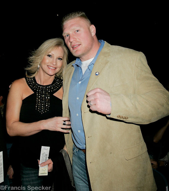 Brock lesnar and Sable smiling