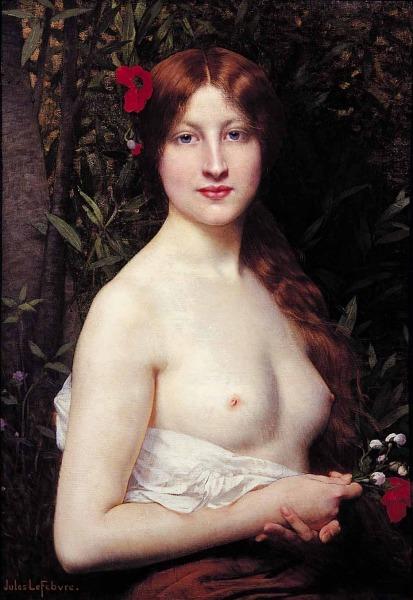 Jules Joseph Lefebvre fleurs des champs