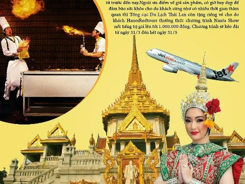 Thái Lan giảm giá tour kịch sàn tại VITM