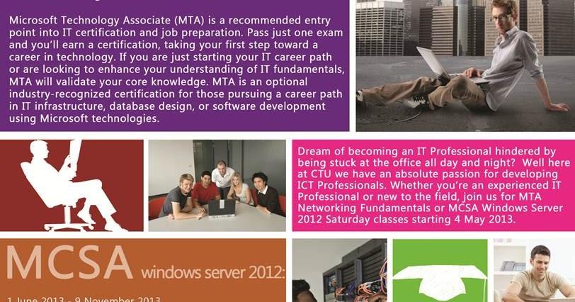 Ctu Training Solutions Chatz Mta Mcsa Saturday Classes