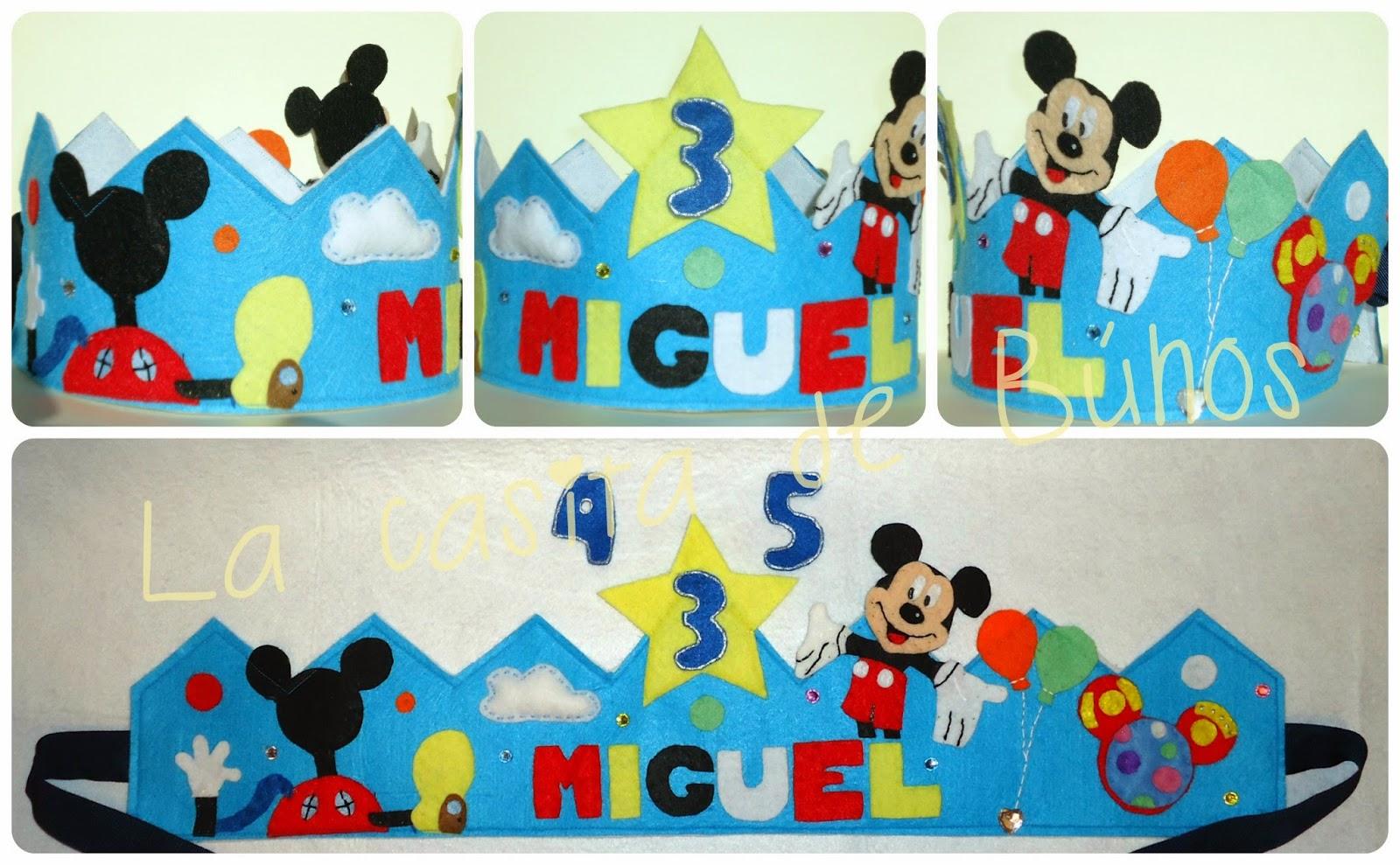 Corona de cumpleaños de Mickey mouse en fieltro - Mickey's felt crown