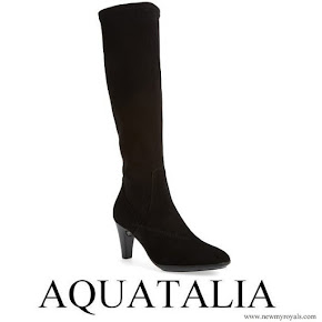 Kate Middleton Wears Aquatalia damara weatherproof almond toe boot