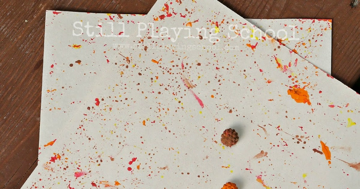 Sensory painting with natural autumn materials still for Painting with nature items