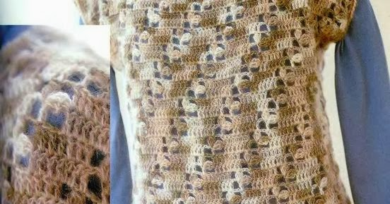 Crochet Patterns K Hook : Crochet: VEST WITH DIAGONAL PATTERN HOOK